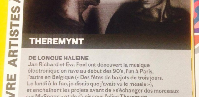 About Theremynt in the march edition of french electronic music magazine Trax